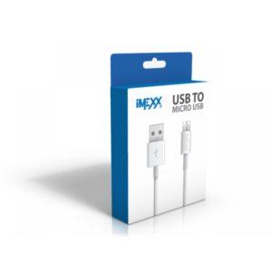 CABLE IMEXX IME-40521 USB A MICRO USB BLANCO