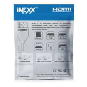 CABLE IMEXX IME-19865 HDMI A MINI HDMI 1.8MTRS