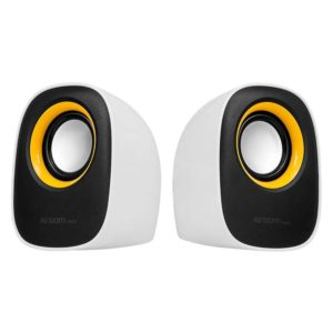 Parlantes ARGOM ARG-SP-1020 usb 2.0 oval white/orange