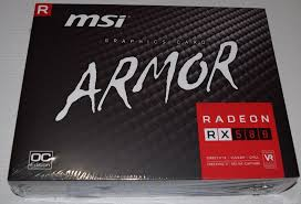 T VIDEO 8gb MSI RX580 ARMOR VGA RADEON OC