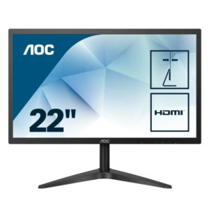 "141103-AOC 22B1H – Monitor de 22"" con Pantalla Full HD (TN, 5ms, VGA, HDMI, Fino, Flicker Free y Low Blue Light)"