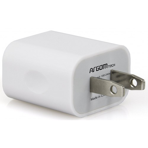 Cargador con Doble USB para Pared 2.1A ARGOM ARG-AC-0105