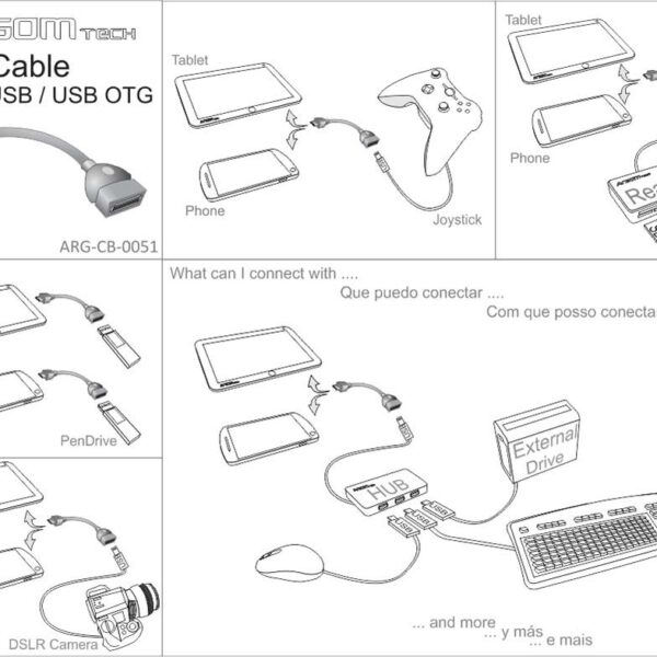 Cable Adaptador Micro USB a USB OTG ARG-CB-0051