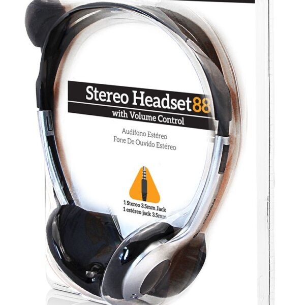 Audifono ARGOM ARG-HS-0088 con microfono Stereo Headset Small 88/C.Volumen