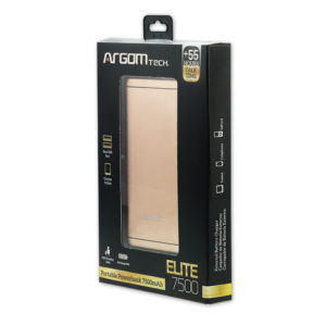 300656-POWER BANK ARGOM ELITE 7500MAH DORADO