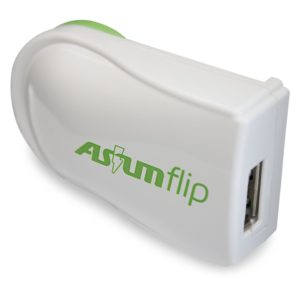 Cargador ASIUM FLIP USB SWIVEL 5V/1A AS-