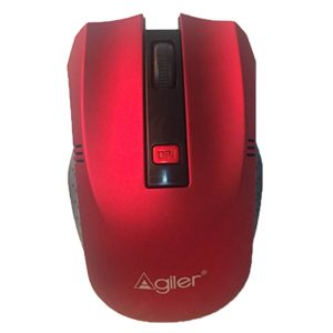 MOUSE AGILER AGI-2095RD INALAMBRICO BLACK AND RED