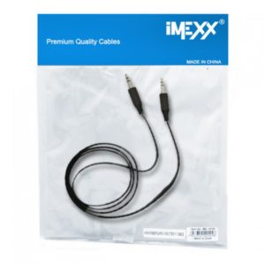 CABLE IMEXX IME-14938 AUDIO 3.5mm STEREO M/M 130cm